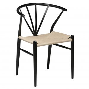 DELTA CHAIR black metal w. nature seat_102320500-102320600