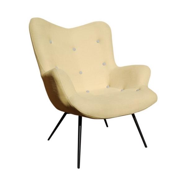 Malmo Metal Legs Lounge Chair